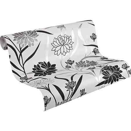 Vliestapete, Livingwalls, »Mustertapete in elegantem Blumendesign«