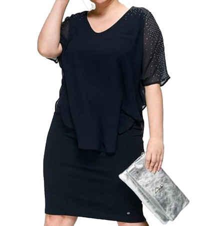 GUIDO MARIA KRETSCHMER Cocktailkleid »GUIDO MARIA KRETSCHMER Curvy Collection Mini-Kleid elegantes Damen Cocktailkleid Party-Kleid mit Glitzersteinchen Marine«