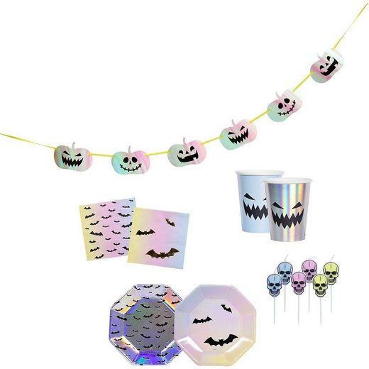 Folat Kindergeschirr-Set »Partyset Halloween Creep Pastel, 35-tlg.«