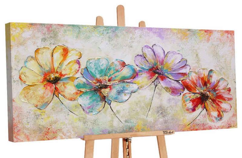 """YS-Art Gemälde »YS-Art """"Schöne Blumen"""" handgemaltes Bild auf Leinwand«"""