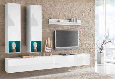 Wohnwand hängend modern schwarz  Wohnwand kaufen » Schrankwand & Anbauwand | OTTO