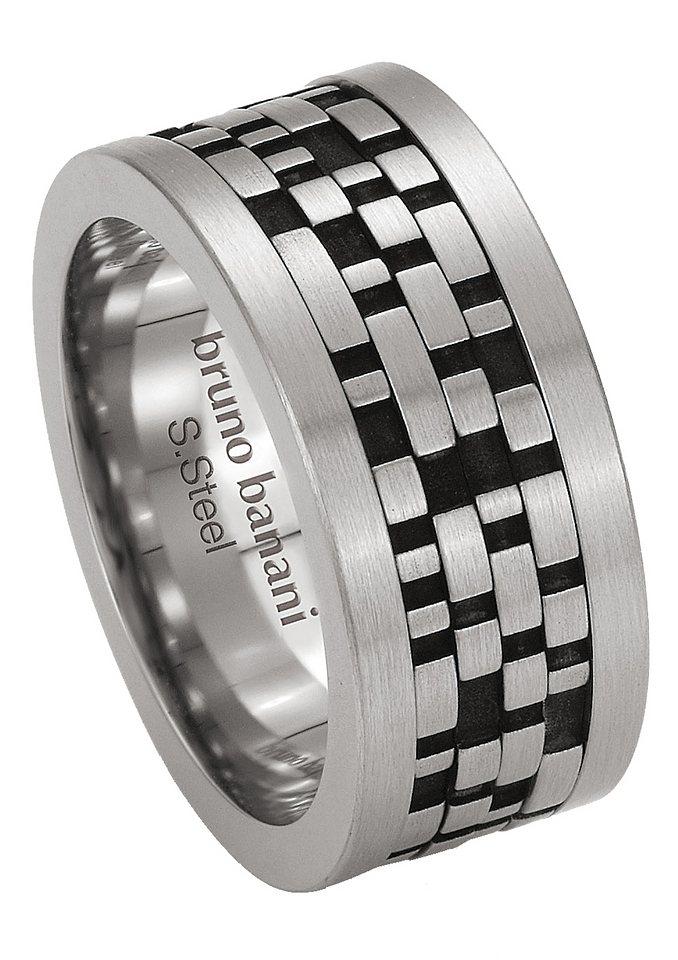 Ring, Bruno Banani, »44/84181-0« in schwarz