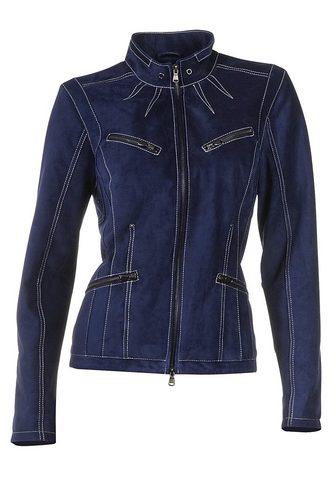 CASUAL куртка кожаная с Kontrast-Stitc...