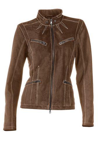 HEINE CASUAL куртка кожаная с Kontrast-Stitc...