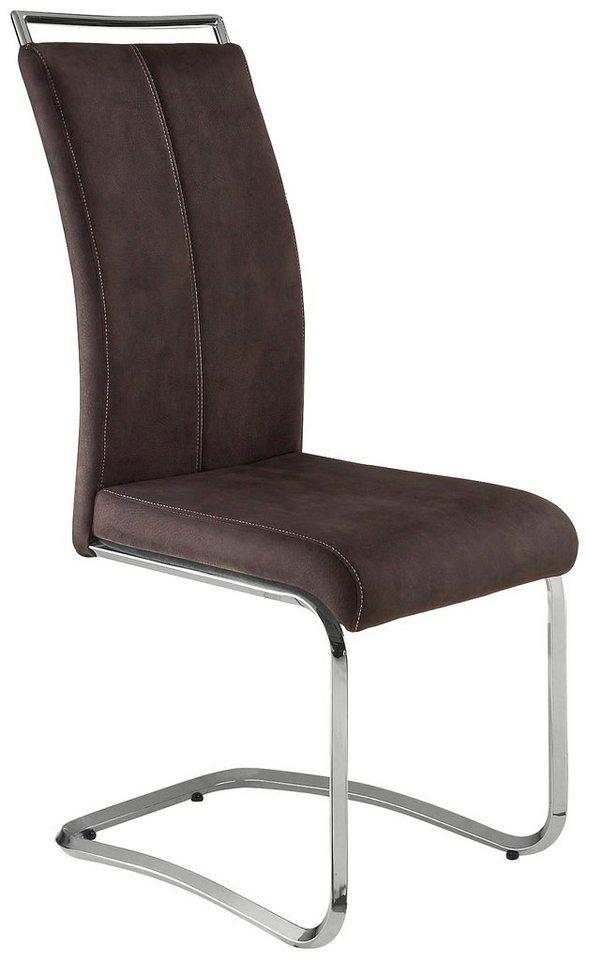 Stühle (2 oder 4 Stück) in anthrazit/Naht weiß