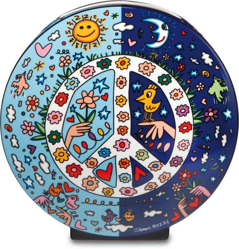 "Goebel Tischvase »Vase James Rizzi - ""Give Peace a Chance""« (1 Stück), aus Porzellan, Höhe ca. 20 cm"