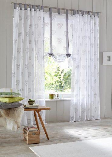 Gardine »Meduno«, Home affaire, Schlaufen (2 Stück), Vorhang, Fertiggardine, transparent