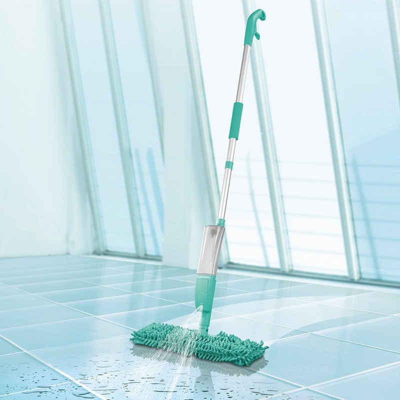 Reinigungsbürsten-Set, CLEANmaxx, Spray-Mopp 2in1 mit Wendefunktion türkis