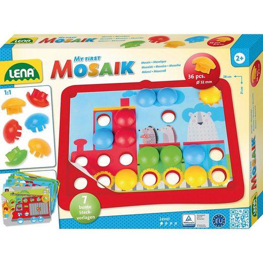 Lena® Malvorlage »My First Mosaik Verkehr, Mosaik-Steckspiel«