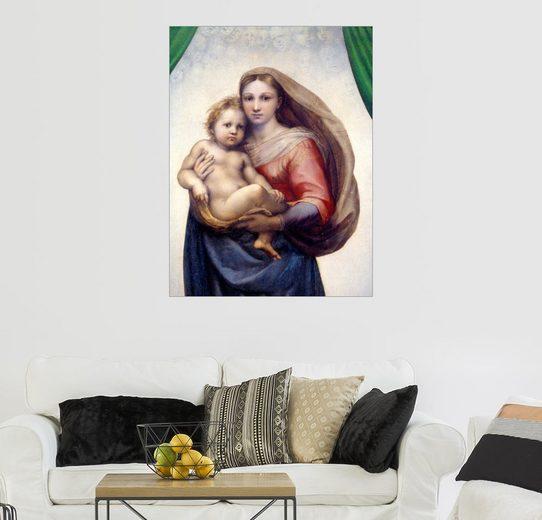 Posterlounge Wandbild, Premium-Poster Sixtinische Madonna (Detail)