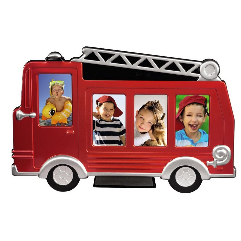 Hama Porträtrahmen Feuerwehrauto Grisu, Rot, 4x 5x8 cm in Rot