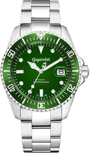 Gigandet Automatikuhr »SEA GROUND«, Mineralglas, Sekundenstopp, Datum, Taucheruhr