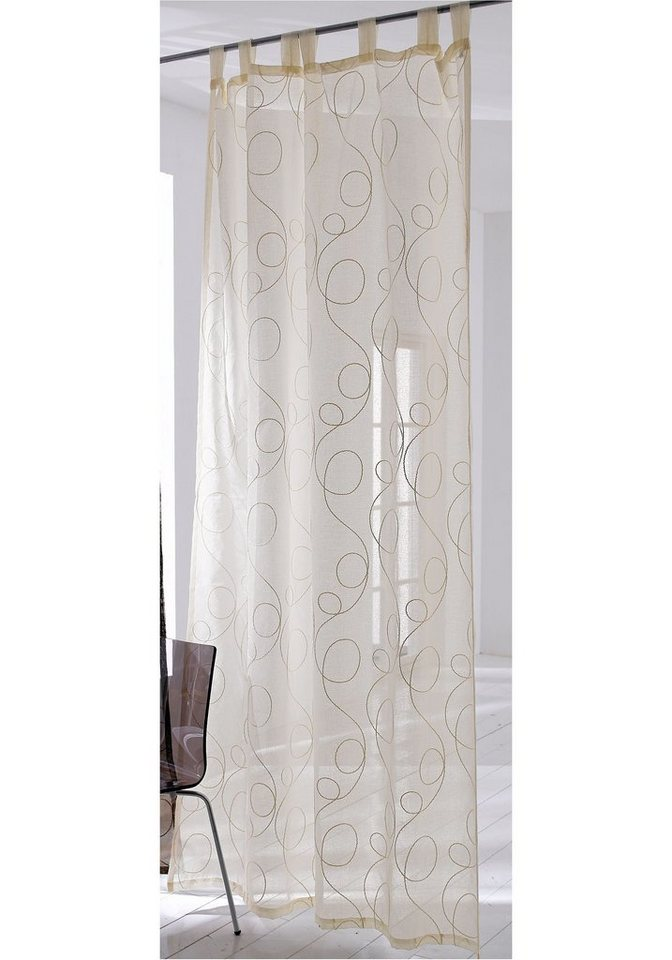 Vorhang, »Jasmin«, Home Affaire Collection (1 Stück) in creme