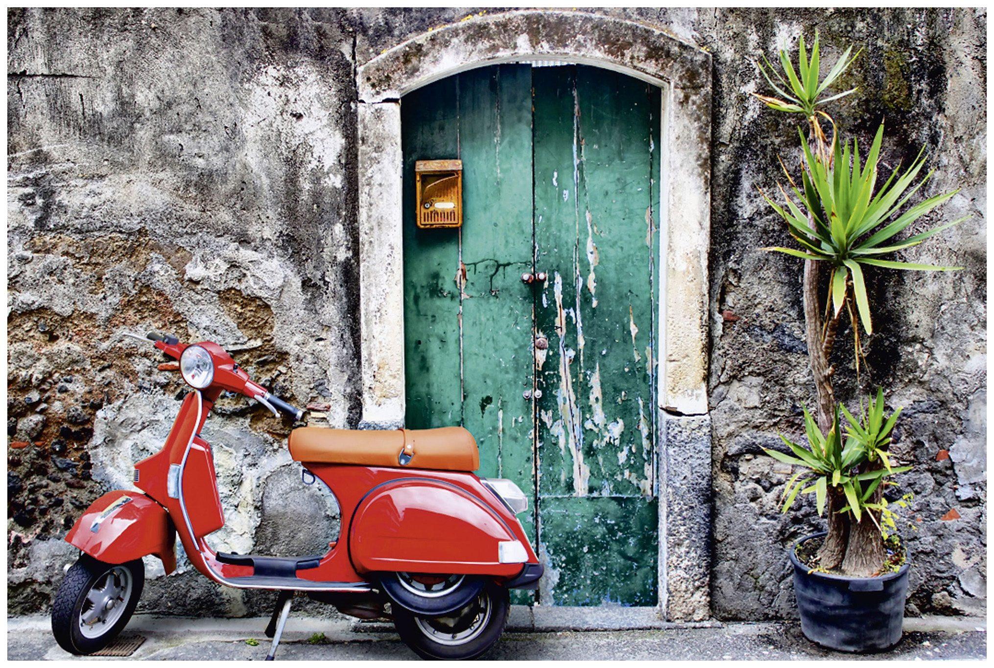 Home affaire, Leinwandbild, »Red scooter«, 90/60cm