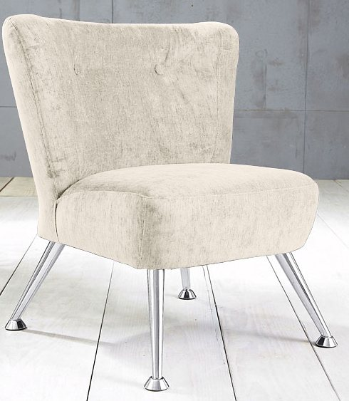 Max Winzer® Stuhlsessel im Retro Stil »Lenny«, mit Metallfüßen in creme