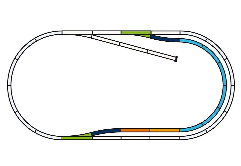 PIKO®, Gleise-Set C »Bahnhofs-Set - 55320«, Spur H0