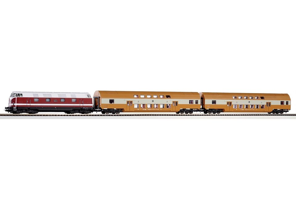 PIKO®, Zug-Set »Start-Set BR 118 + 2 Doppelstockwagen der DR - 57135«, Spur H0 in bunt