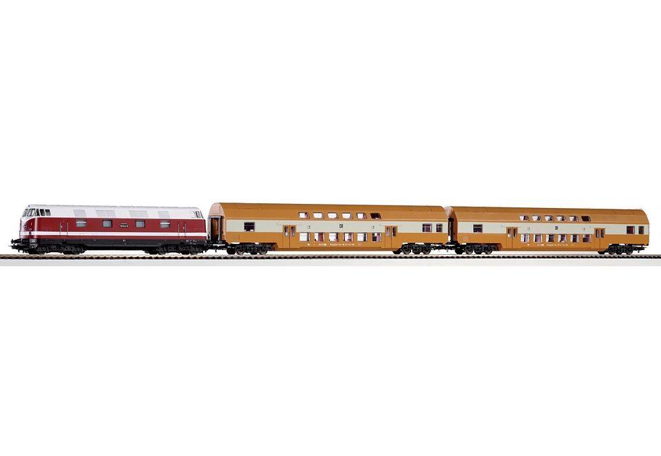 PIKO®, Zug-Set »Start-Set BR 118 + 2 Doppelstockwagen der DR - 57135«, Spur H0