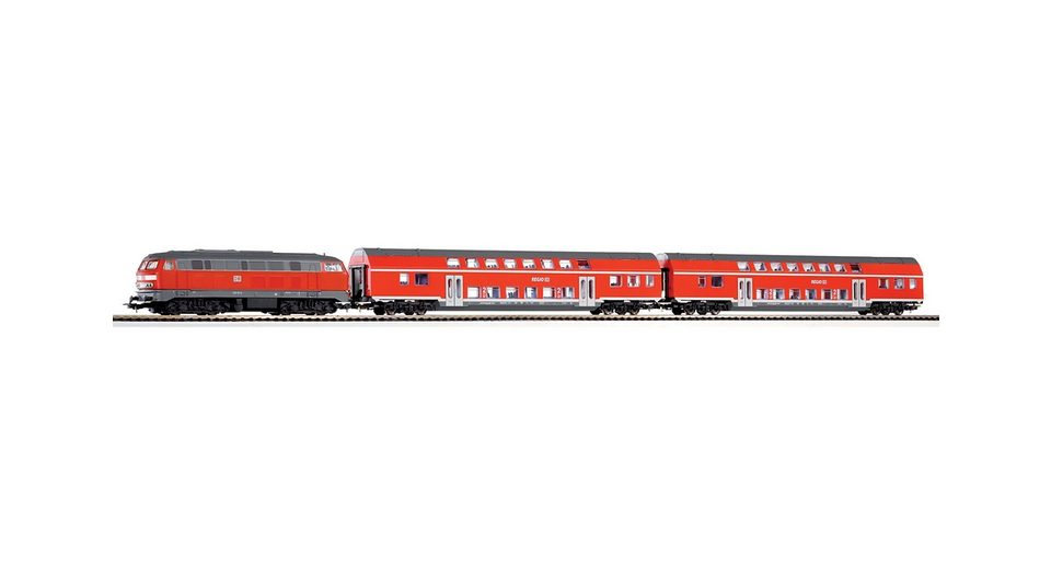 PIKO®, Zug-Set »Start-Set BR 218 + 2 Doppelstockwagen der DB - 57150«, Spur H0