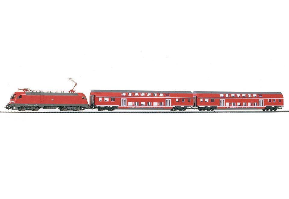 PIKO®, Zug-Set »Start-Set BR 182 + 2 Doppelstockwagen der DB - 57171«, Spur H0