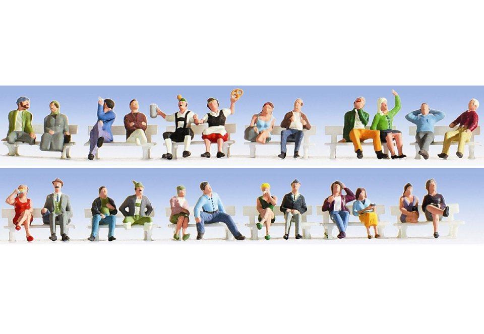 Figuren-XL Set, NOCH, »Sitzende - 16103«, Spurweite H0 in bunt