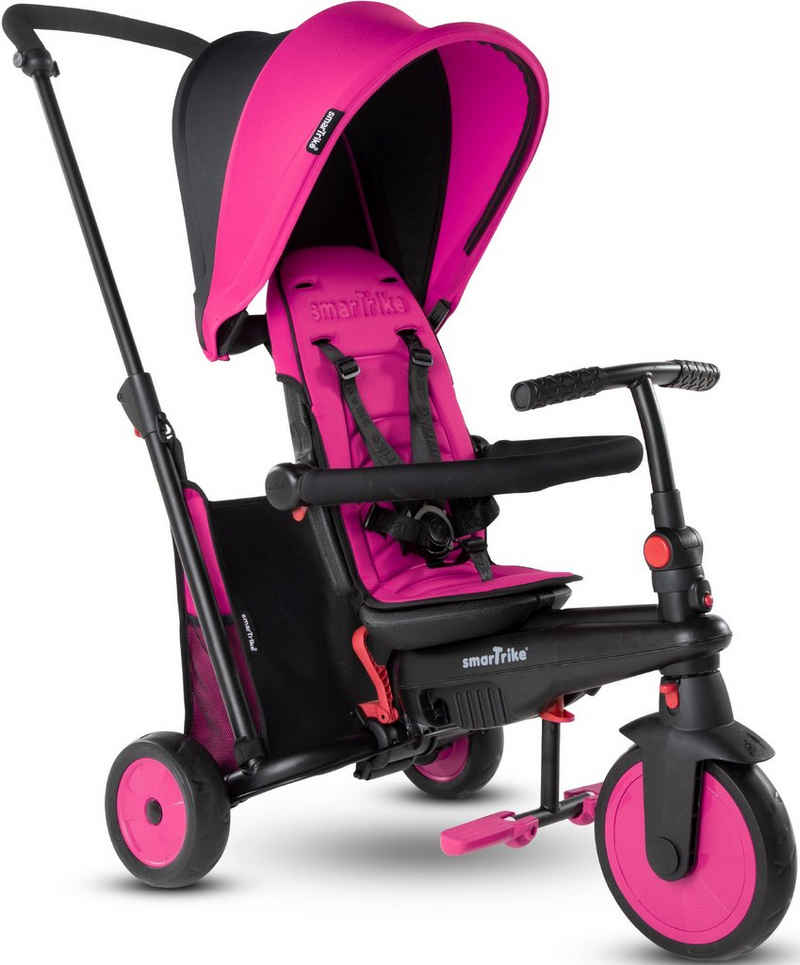 smarTrike® Dreirad »FoldingTrike STR3, Pink«, mit verstellbarem Sonnenschutzdach