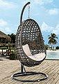 DESTINY Hängesessel »Coco«, Kunststoff, grau, inkl. Sitz- und Rückenkissen, Bild 1