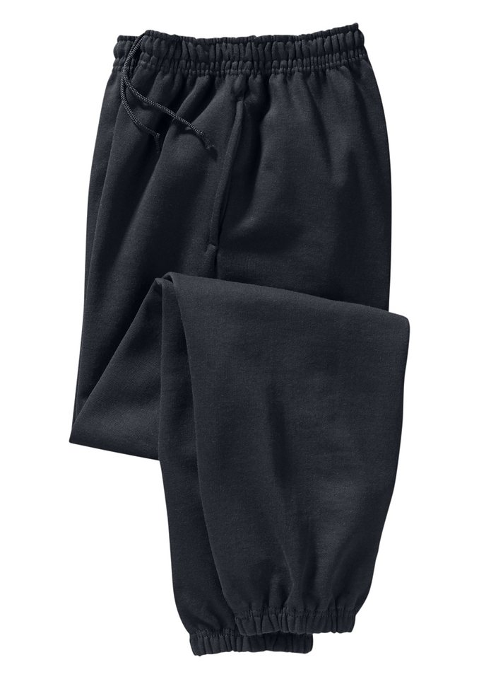 Fruit Of The Loom Freizeithose mit 2 seitlichen Taschen in schwarz