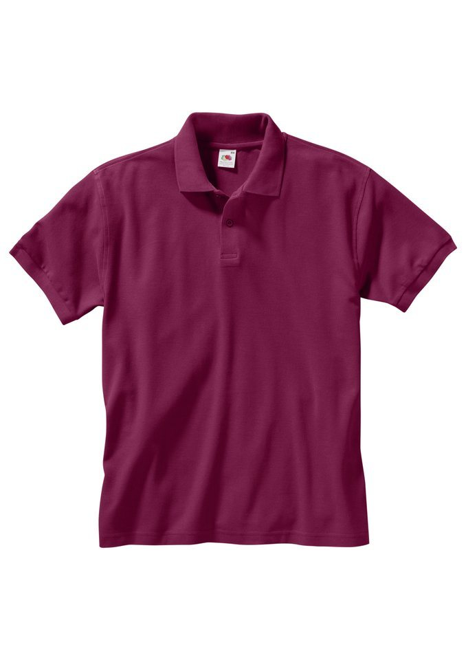 Fruit Of The Loom Poloshirt in weinrot