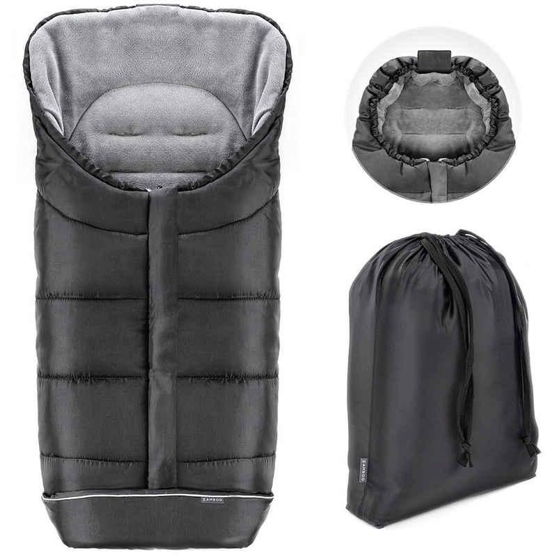 Zamboo Fußsack »Schwarz«, Universal Thermo Winter - Fußsack Baby für Kinderwagen und Buggy