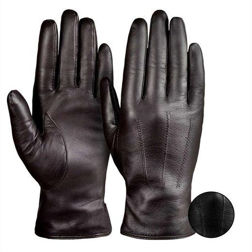 Tarjane Lederhandschuhe »Kaschmir« Damen Kaschmir Handschuhe