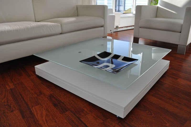 carl svensson Couchtisch »Design Couchtisch Tisch V-570 Weiß Milchglas Carl Svensson«