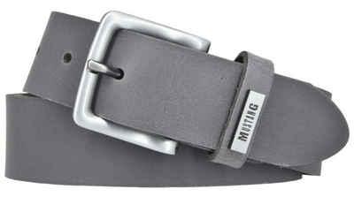 MUSTANG Ledergürtel »MUSTANG Herrengürtel Ledergürtel 35mm grau Jeansgü«