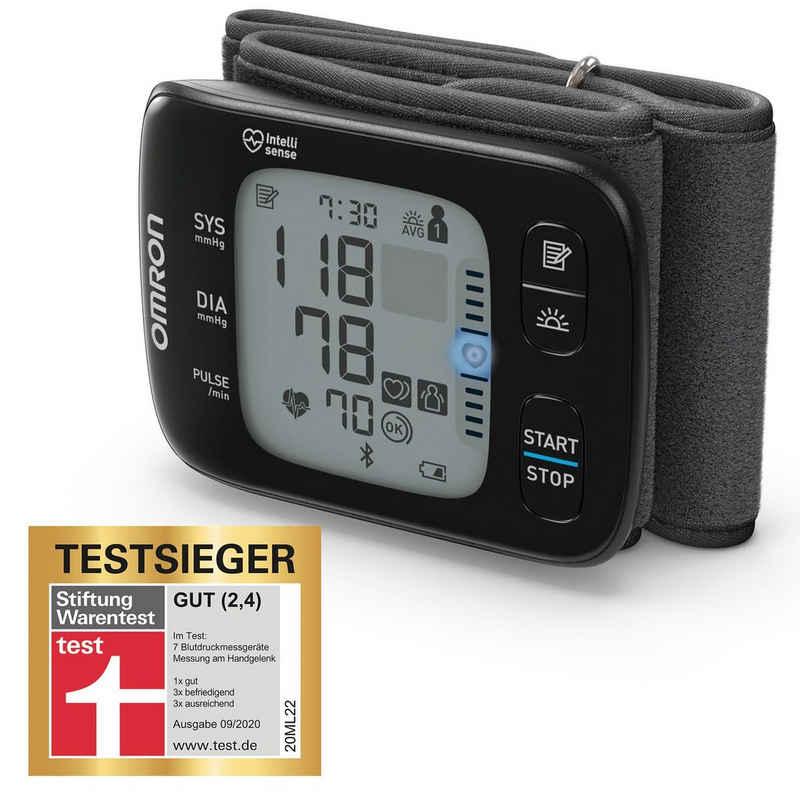 Omron Handgelenk-Blutdruckmessgerät RS7 Intelli IT (HEM-6232T-D), mit LED Positionierungssensor und Bluetooth-Funktion für zu Hause und unterwegs