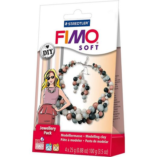 STAEDTLER Knete »FIMO soft DIY Schmuckset Perlen«