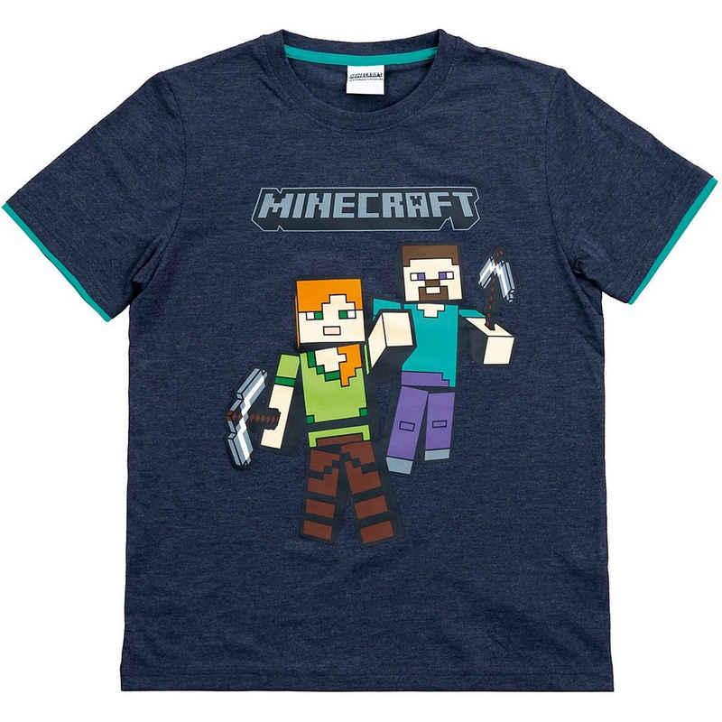 Minecraft T-Shirt »T-Shirt Mining Team gray 152cm«