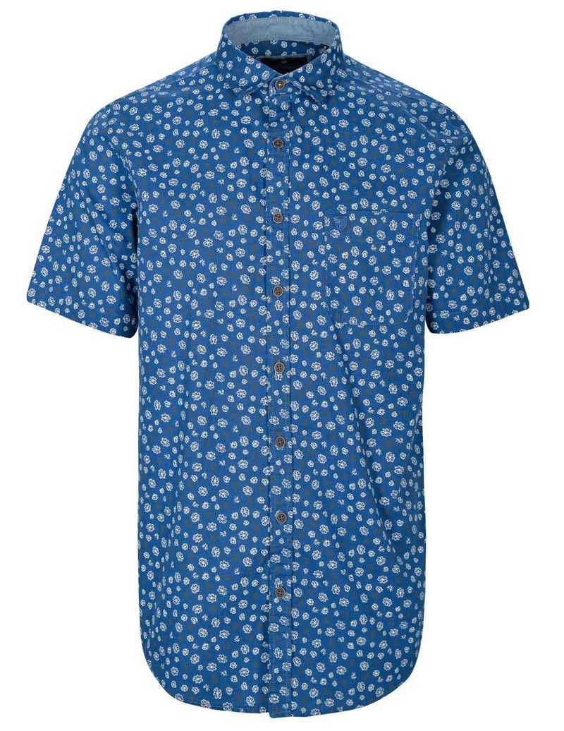 BASEFIELD Kurzarmhemd mit Print