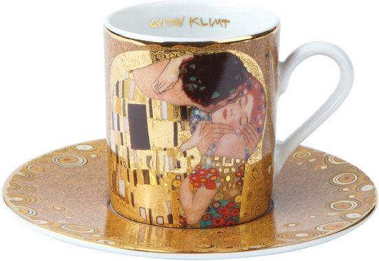 Goebel Espressotasse »Der Kuss«, Fine China-Porzellan, goldfarben, Höhe ca. 6 cm