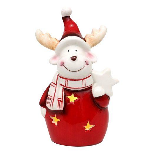 SIGRO Weihnachtsfigur »Dolomite Elch mit Weihnachtsstern«