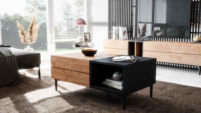 Newroom Couchtisch »Nizza«, Wildeiche Wohnzimmertisch Vintage Indurstrial Landhausstil Sofatisch Wohnzimmer