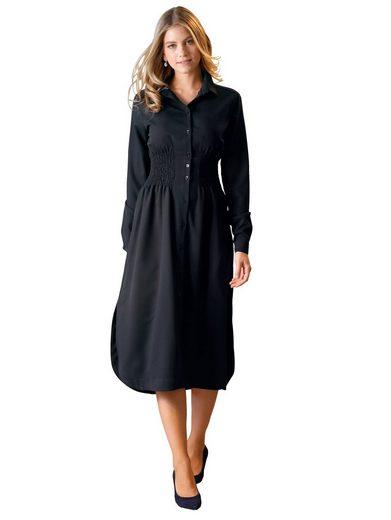 Amy Vermont Blusenkleid mit breitem Smokeinsatz in der Taille