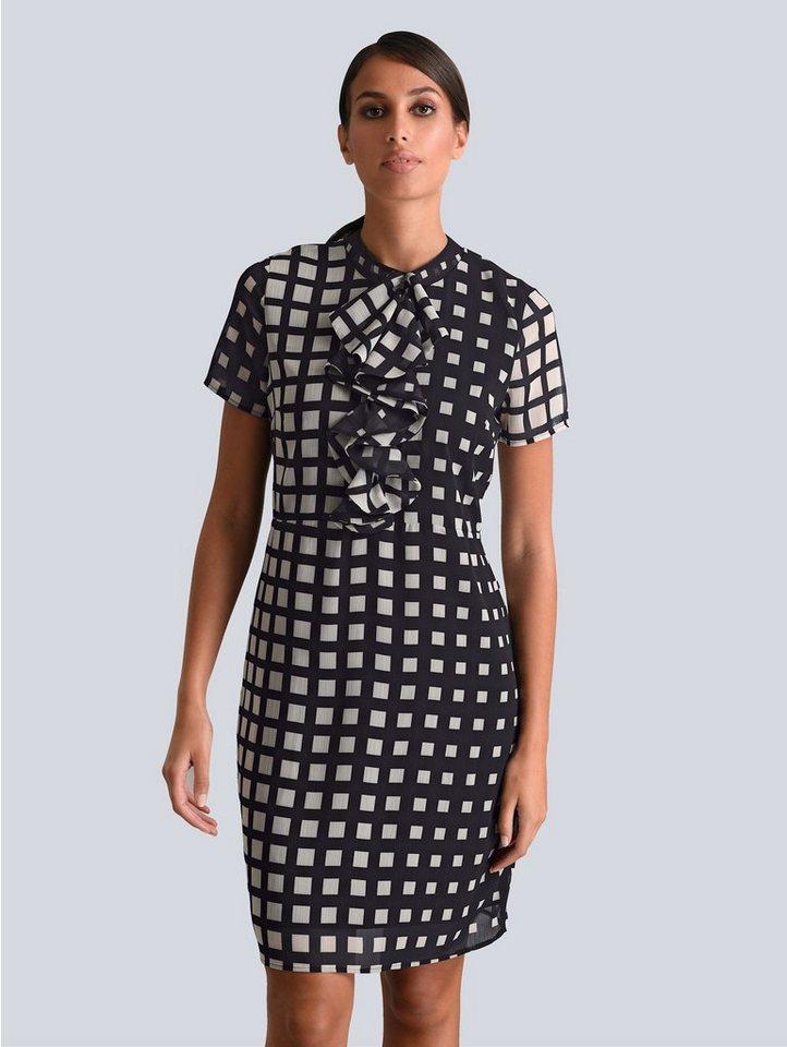 Festtagsmode - Alba Moda Kleid mit Rüschendetails in der vorderen Mitte › schwarz  - Onlineshop OTTO