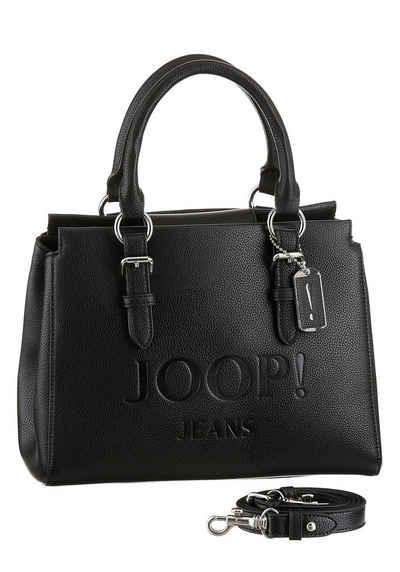 Joop Jeans Henkeltasche »lettera peppina handbag shz«, mit großem Ton in Ton Logo-Druck