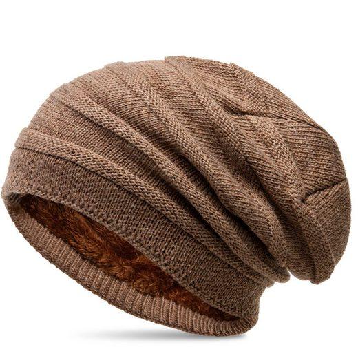 Caspar Beanie »MU202 warme Strick Mütze mit Fleece Innenfutter«