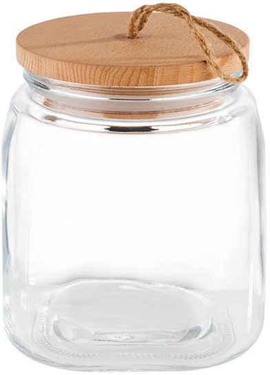 APS Vorratsglas, Glas, (Set, 2-tlg), mit Holzdeckel
