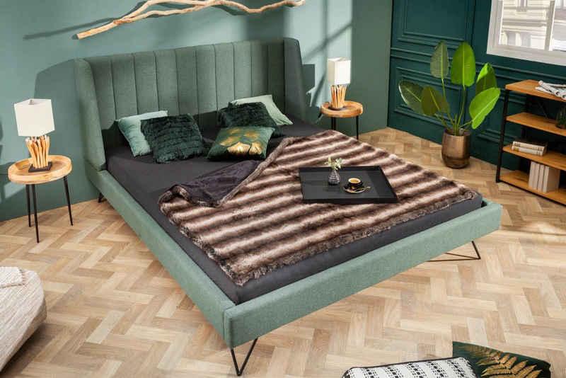 riess-ambiente Bett »LA BEAUTE 160x200cm waldgrün«, mit Ziersteppung