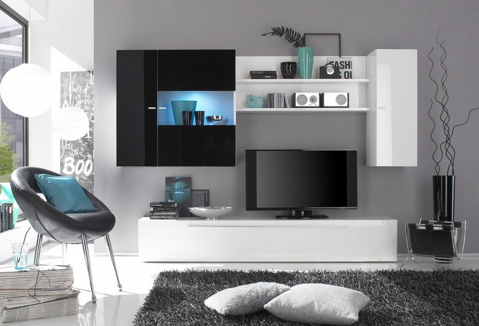 lc wohnwand 4 tlg online kaufen otto. Black Bedroom Furniture Sets. Home Design Ideas