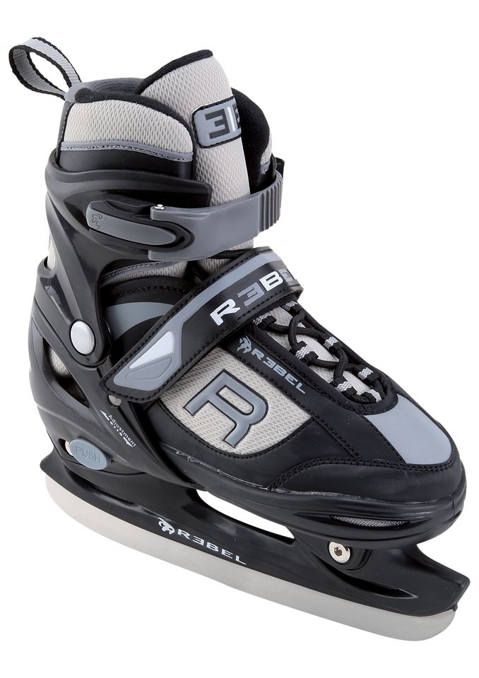 Schlittschuhe, Rebel, »Junior Ice-Skate Revolution«, unisex in blau-grau