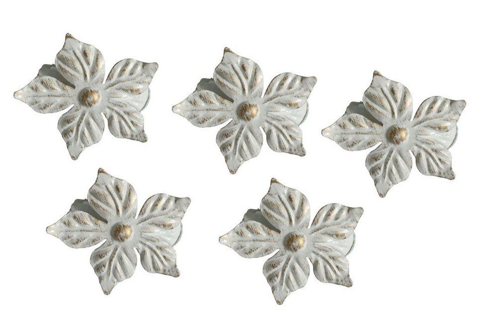 Dekoklammern, Garesa, »Dekoklammern Blume«, zur Dekoration von Gardinen in weiss/gold