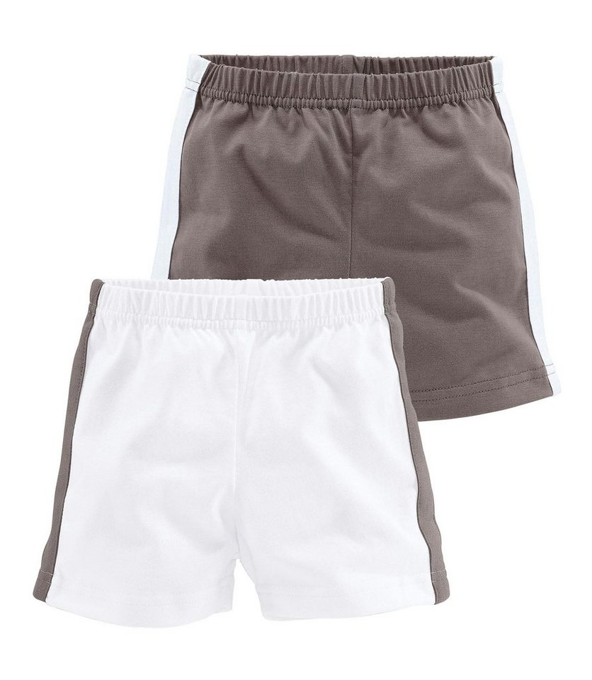 Klitzeklein Shorts (Packung, 2 Stück), für Babys in Braun-Weiß